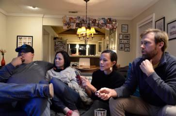 """Corey, Susan, Sarah and Miles playing """"Song Pop Party"""""""