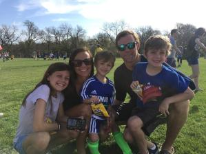The whole family at soccer