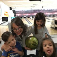 Bowling with Bonnie's kids
