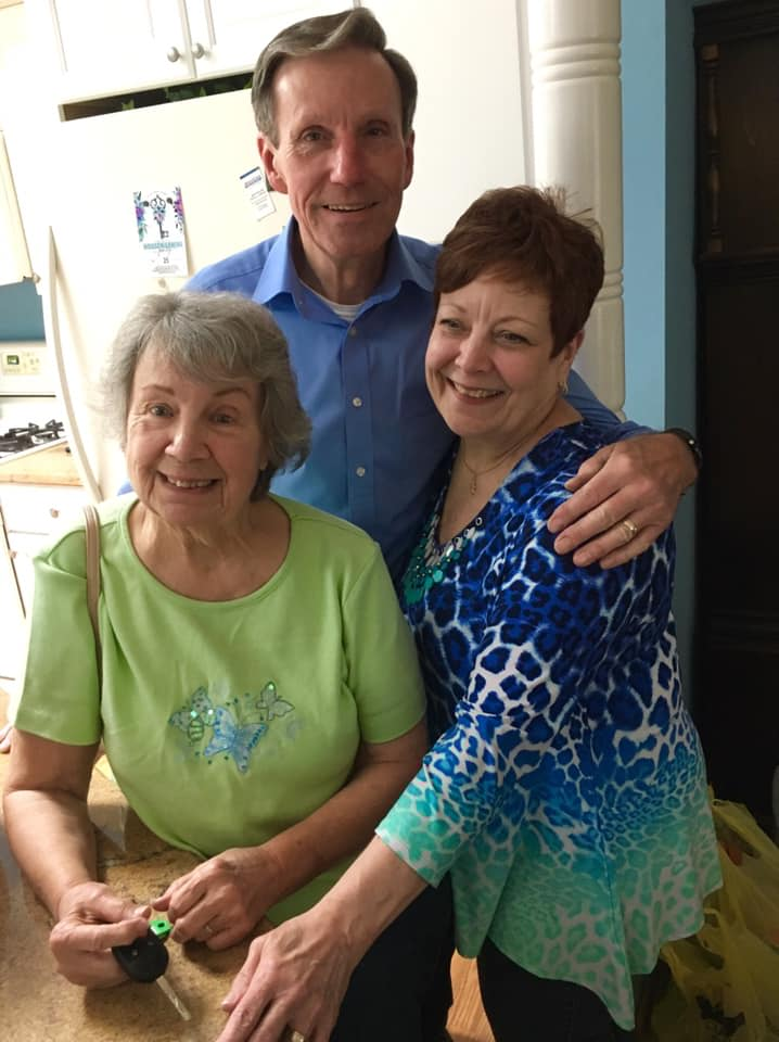 Aunt Jeannette, Pat and her husband Jack who came home right as we were leaving